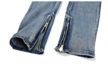 Load image into Gallery viewer, Stretch Plain Zipper Jeans