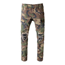 Load image into Gallery viewer, AMRI CAMO BIKER PANTS