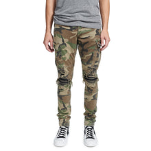 Load image into Gallery viewer, Amiri Camo Biker Pants