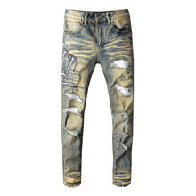 Load image into Gallery viewer, AMRI SNAKE DENIM - YELLOW WASHED
