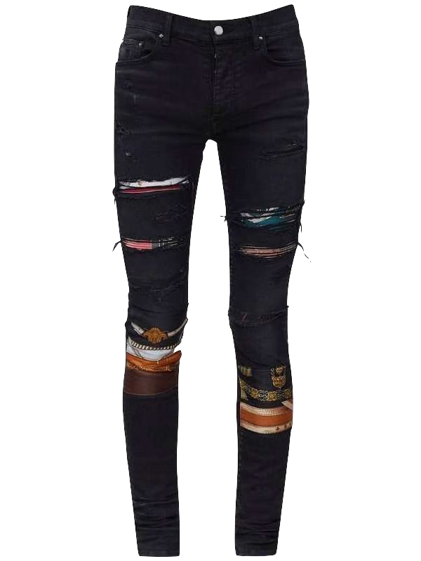 AMRI ART PATCH DENIM - BLACK