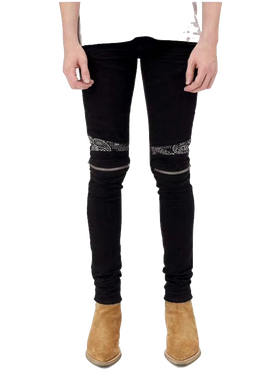 AMIRI BANANA ZIPPER DENIM - BLACK