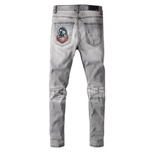 Load image into Gallery viewer, AMRI BEAR PATCH DENIM - GREY