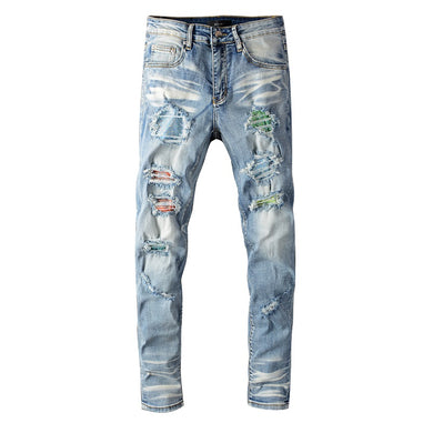 AMRI DIAMOND JEANS - BLUE