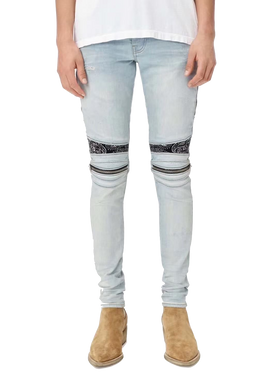 AMIRI BANANA ZIPPER DENIM - BLUE
