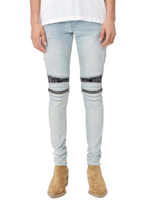 AMRI BLEACH CRYSTAL DENIM -SKY INDIGO