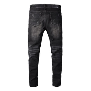 AMRI BIKER PATCH DENIM