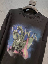 Load image into Gallery viewer, AMRI DRAGON DISTRESSED SWEATSHIRT