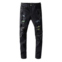 Load image into Gallery viewer, AMIRI RIVET DESTROTYED DENIM - BLACK