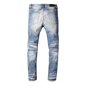 AMRI RIVET DENIM -BLUE