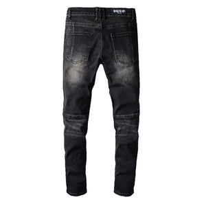 AMRI & BALMAIN BIKER LEATHER JEANS