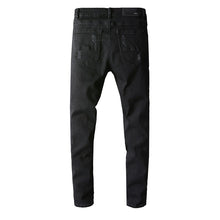 Load image into Gallery viewer, AMRI DESTROYED BIKER JEANS - BLACK