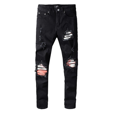 AMIRI BIKER PATCH JEANS - BLACK