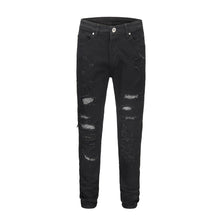 Load image into Gallery viewer, Destroyed Rivet Denim - Black