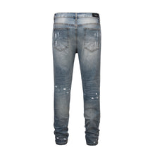 Load image into Gallery viewer, Destroyed Rivet Denim - Blue