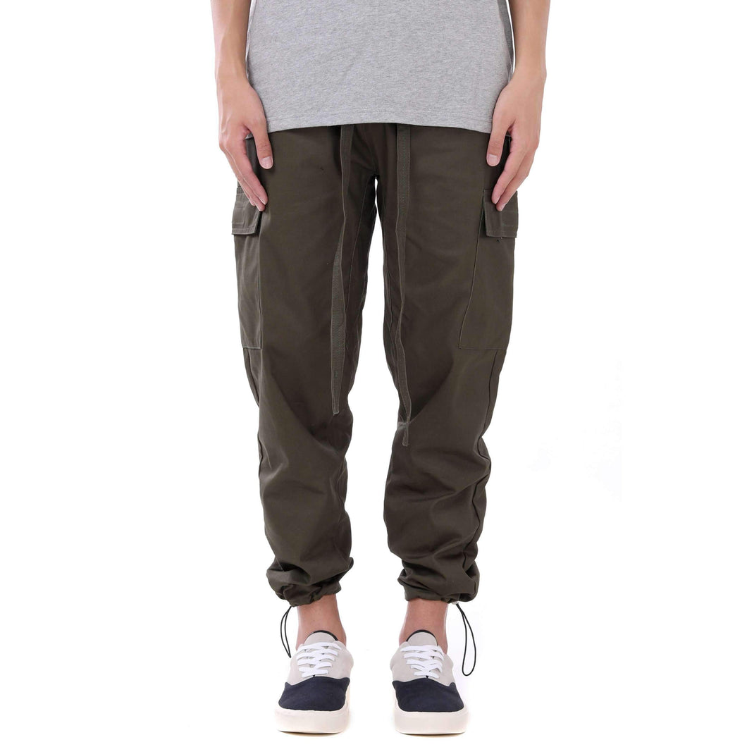 CASUAL CARGO PANTS - GREEN