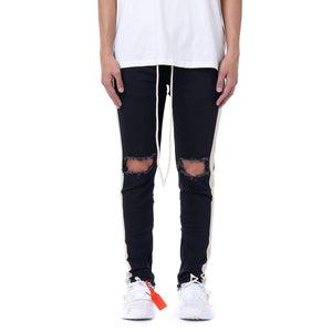 DESTROYED RETRO DENIM - BLACK