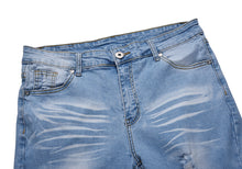 Load image into Gallery viewer, Distressed Denim- Sky Blue
