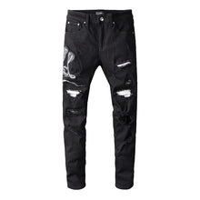 Load image into Gallery viewer, AMRI SNAKE DENIM - BLACK