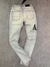 Load image into Gallery viewer, AMIRI LETTER JEAN - BLUE