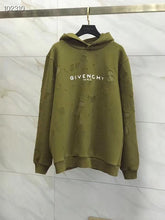 Load image into Gallery viewer, GVC PARIS DESTROYED HOODIE - OLIVE GREEN