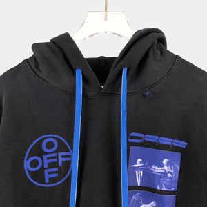 OW WASHED OIL PRINT HOODIE