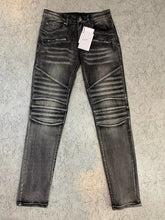 Load image into Gallery viewer, AMRI & BALMAIN BIKER  JEANS - WASHED GREY