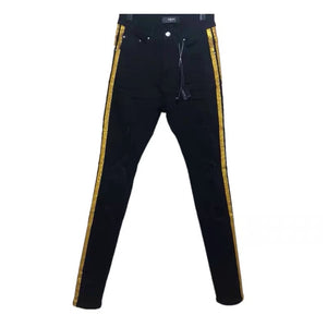 AMRI GOLDEN STRIPED DENIM