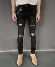 Load image into Gallery viewer, AMRI DESTROYED DENIM - BLACK