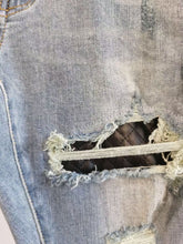 Load image into Gallery viewer, AMRI LEATHER REPAIR JEANS