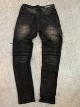 Load image into Gallery viewer, AMRI & BALMAIN BIKER LEATHER JEANS