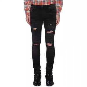 AMRI DESTROYED DENIM - BLACK