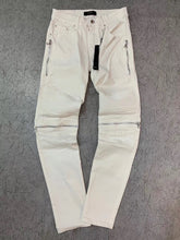 Load image into Gallery viewer, AMIRI ZIPPER DENIM - WHITE