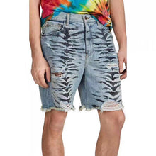 Load image into Gallery viewer, AMRI ZEBRA DENIM SHORT