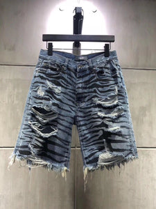 AMRI ZEBRA DENIM SHORT
