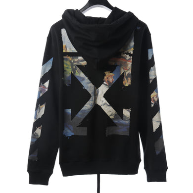 OW OIL PRINT ZIPPER JACKET