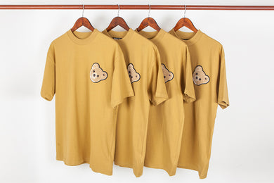 SUP & PALM ANGLES BEAR TEE - YELLOW
