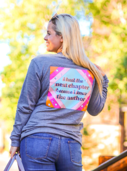 Trust The Next Chapter (Charcoal Heather) - Long Sleeve / Crew