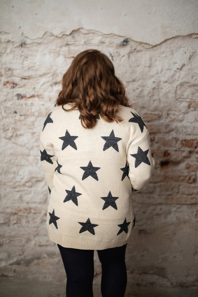 Marin Cream Star Cardigan