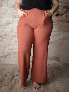 Kelly Loungewear Bottom in Marsala