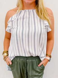 Luna Halter Stripe Top