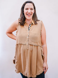 Sadie Button Front Tunic