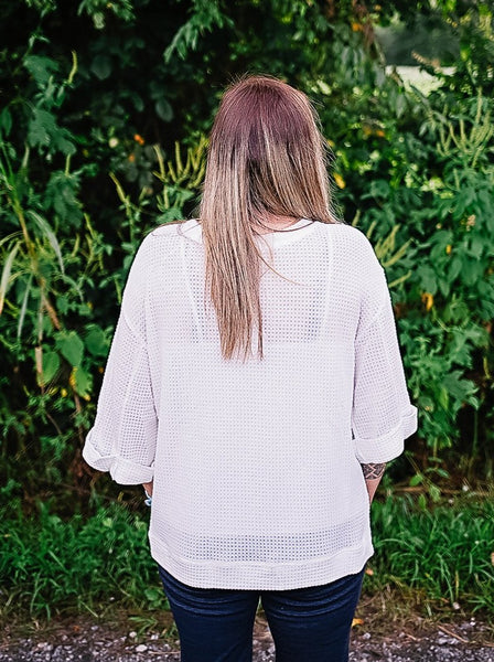 Shelby White Summer Sweater