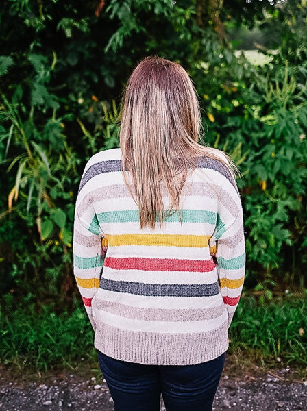 Kimmy Multi-Striped Pullover