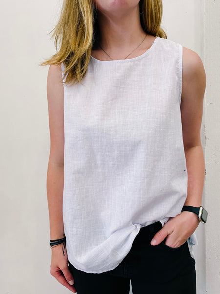 Sarah Washed Cotton Linen Top
