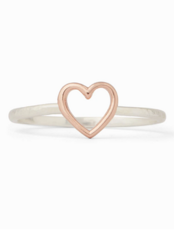 Puravida Open Heart Ring