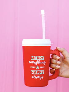 Thermo Jug - Merry Everything & Happy Always - (Red)