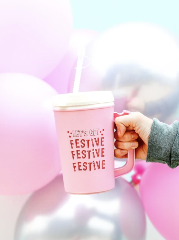 Thermo Jug - Let's Get Festive - (Pink)