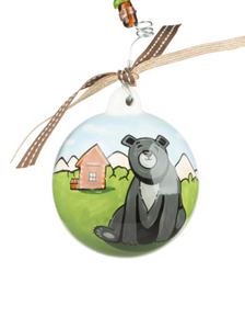 Bear and Bird Ornament