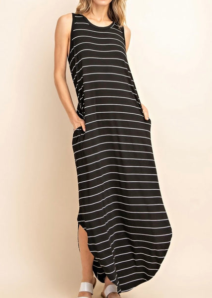 Tommy Striped Maxi Dress